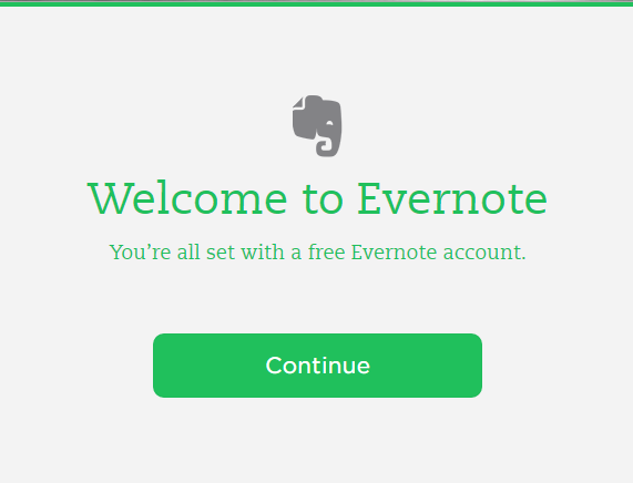 evernote-account-creation-success